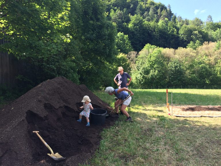Bio-Gemüse-Kompost-Erde